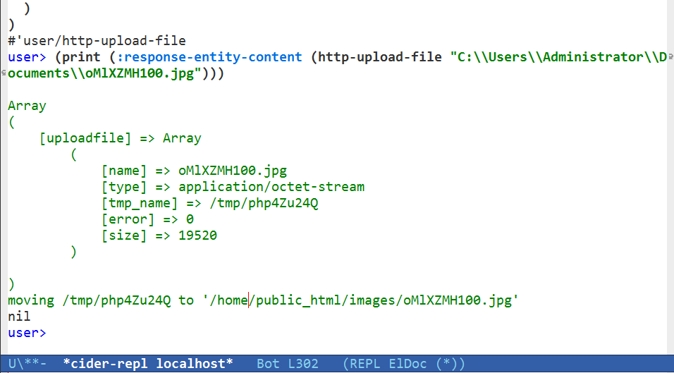 Upload file to HTTP Server with HTTP client and PHP backend - Java