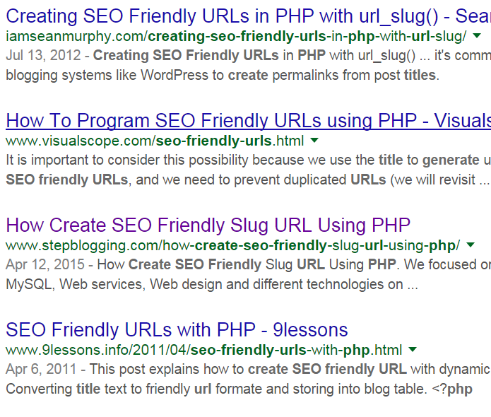 How to create seo friendly url for article title - PHP - makble